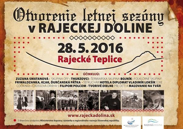 Otvorenie kúpeľnej sezóny v Rajeckej doline @ Rajecké Teplice | Rajecké Teplice | Žilinský kraj | Slovensko
