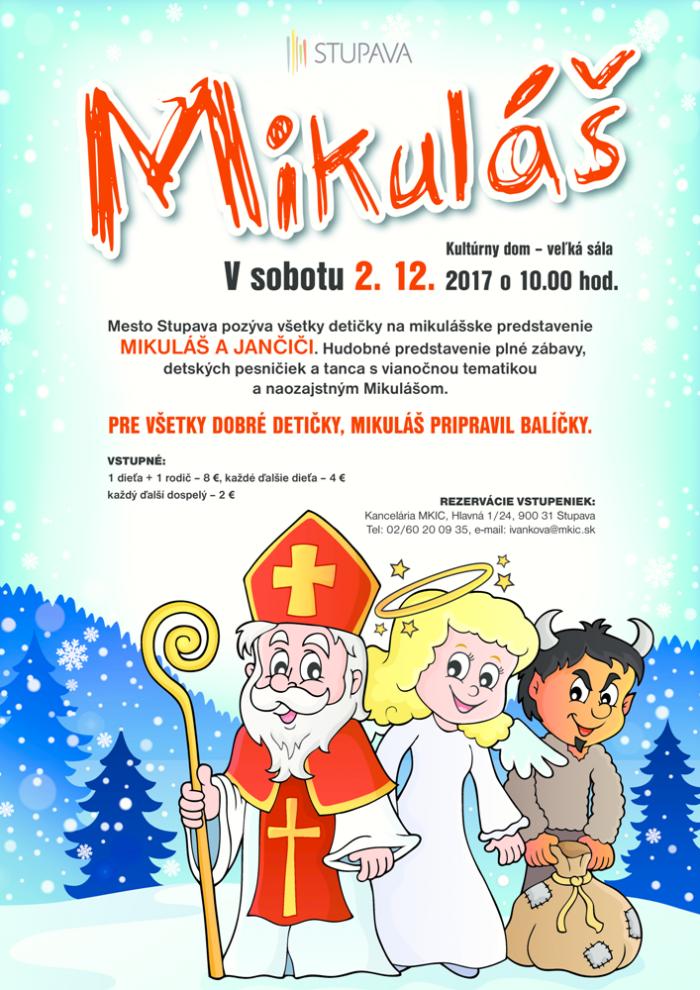 349b2f0e33733 Mikulášske predstavenie pre deti: Mikuláš a Jančiči | SDEŤMI.com