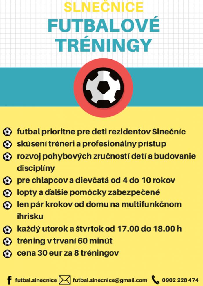 3fca8aa4e Slnečnice - futbalové tréningy | SDEŤMI.com
