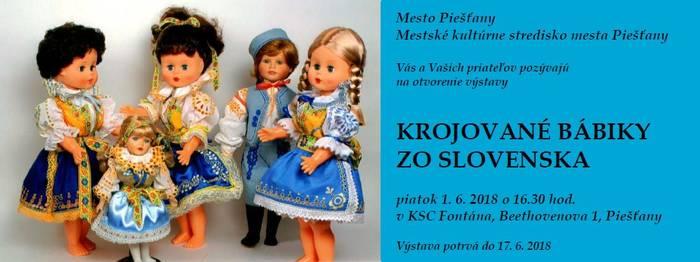 3102431b2a Výstava Krojované bábiky zo Slovenska 2018