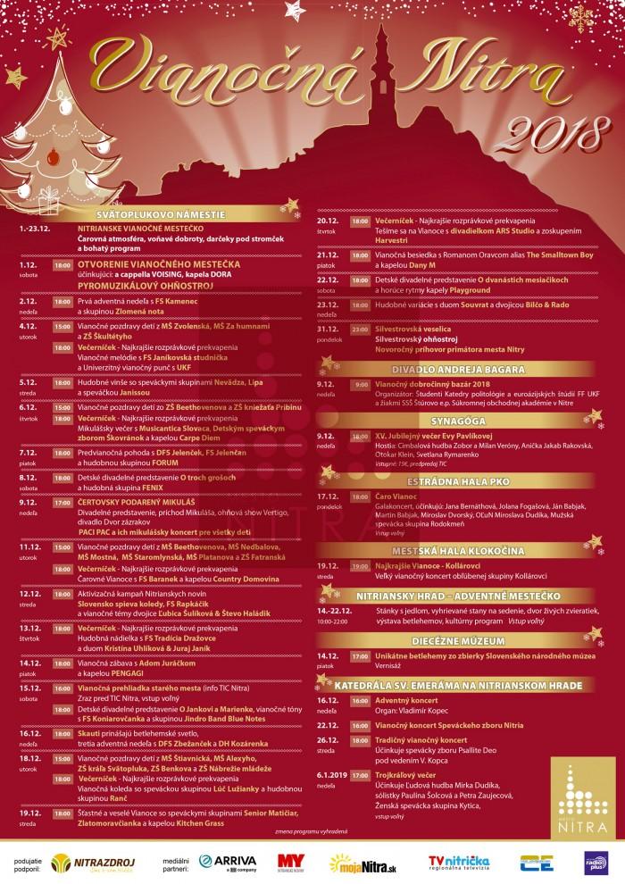 Vianocna Nitra 2018 plagat program bd9404c7cfc