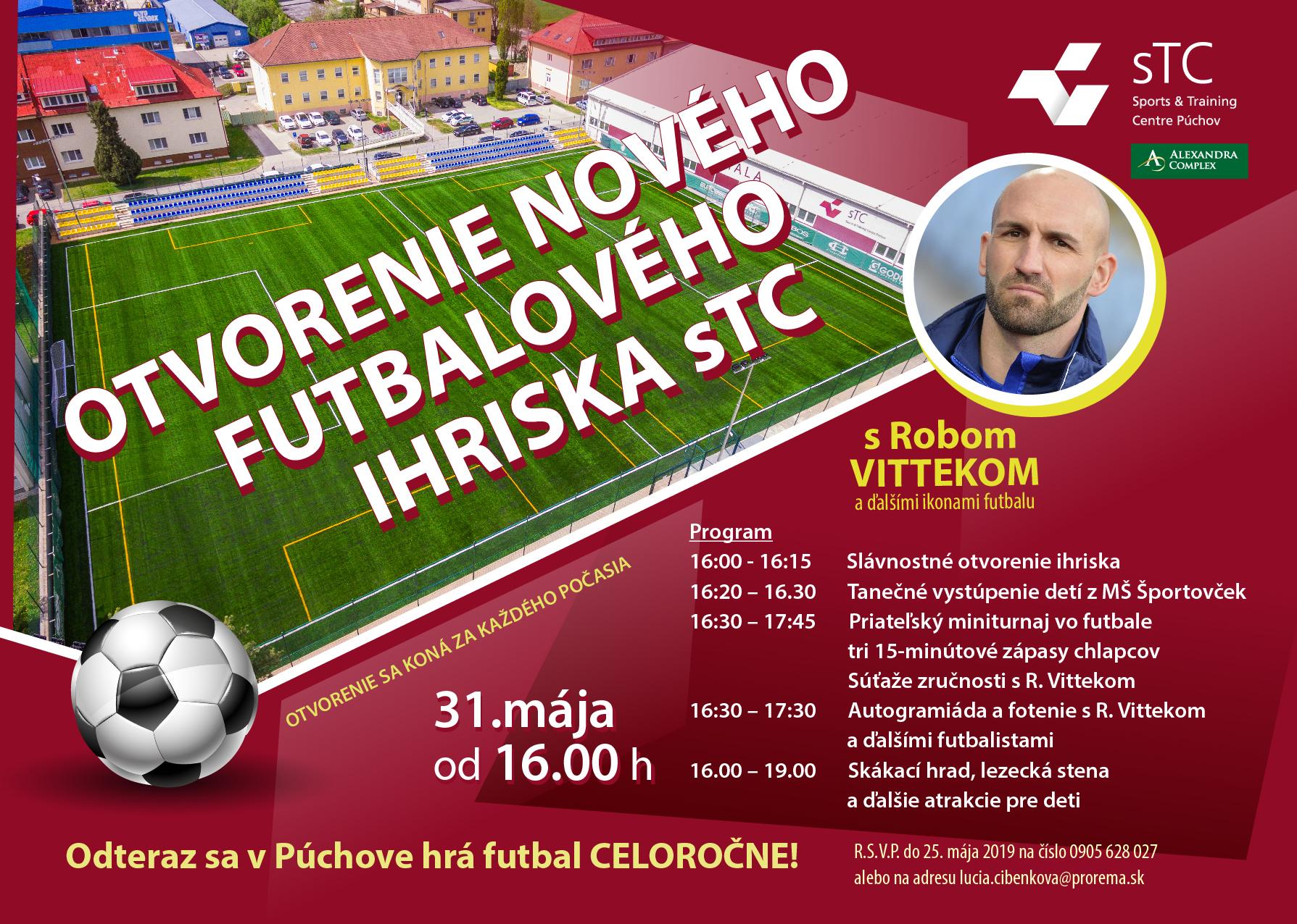 ab5df71a76330 Otvorenie nového futbalového ihriska v STC Púchov s Robom Vittekom!    SDEŤMI.com