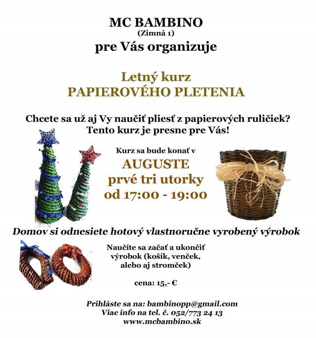 c811c0f65 Letný kurz papierového pleteni   SDEŤMI.com