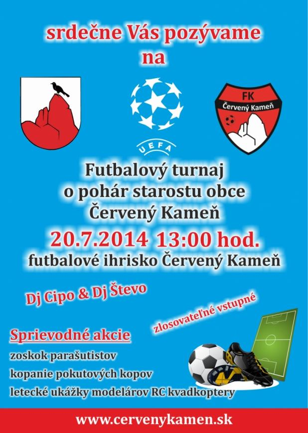 bdc05cce46 Futbalový turnaj o pohár starostu obce Červený Kameň